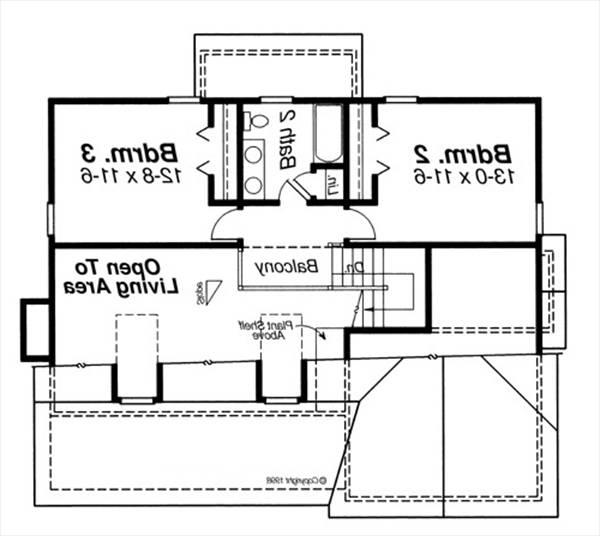 Second Floor image of Featured House Plan: BHG - 5834