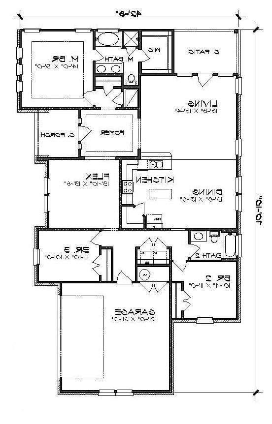 Floor Plan image of Featured House Plan: BHG - 5207