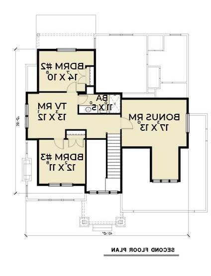 2nd Floor Plan image of Featured House Plan: BHG - 7409