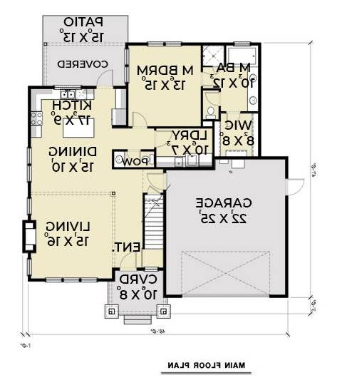 1st Floor Plan image of Featured House Plan: BHG - 7409