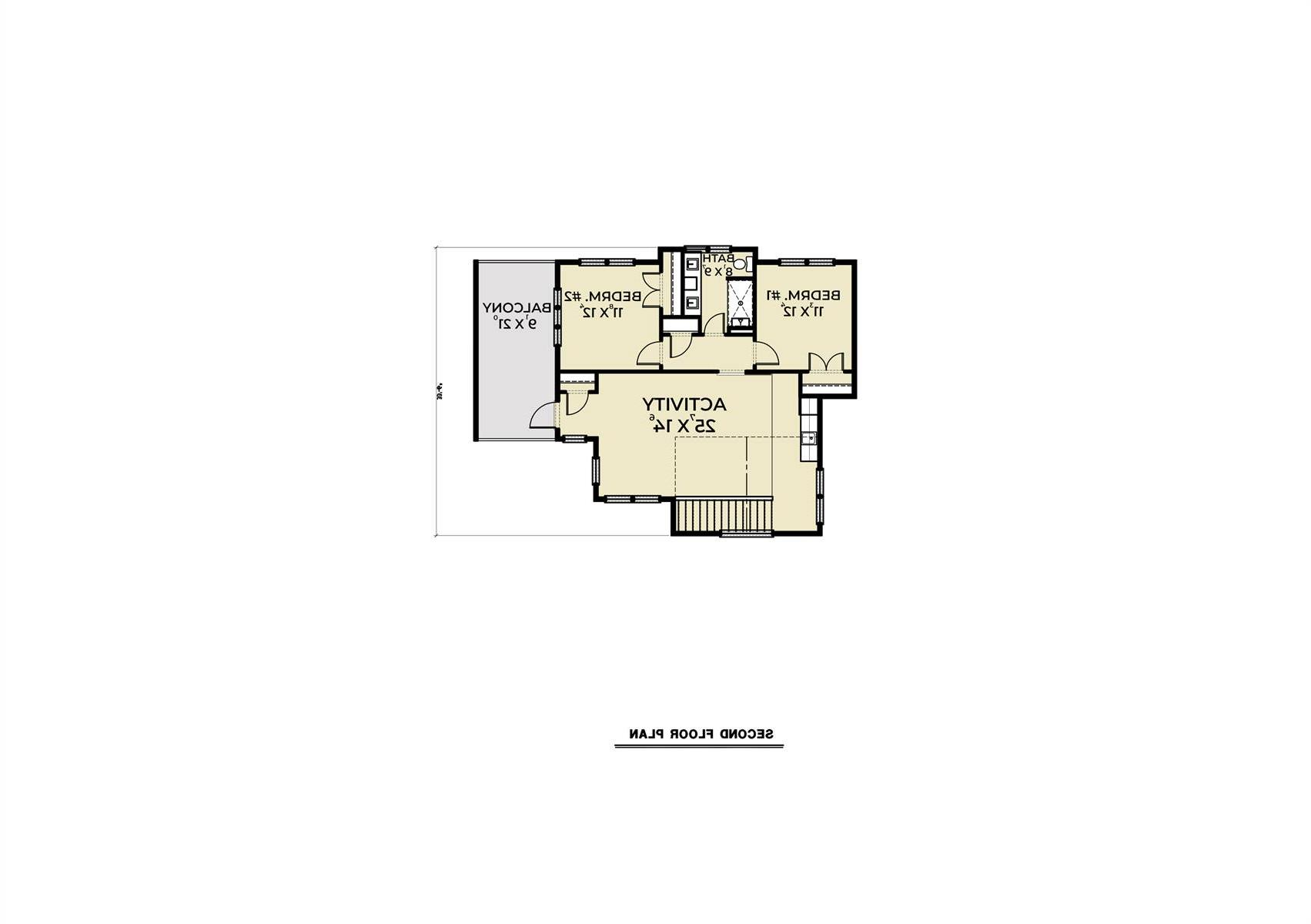 2nd Floor image of Featured House Plan: BHG - 8669