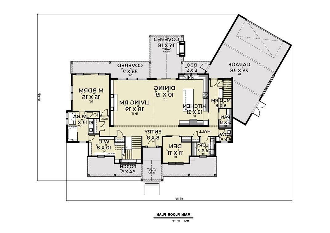1st Floor image of Featured House Plan: BHG - 8834