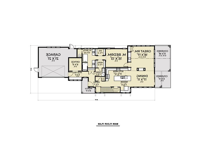 1st Floor image of Featured House Plan: BHG - 8669