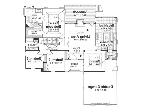 First Floor image of Featured House Plan: BHG - 1107
