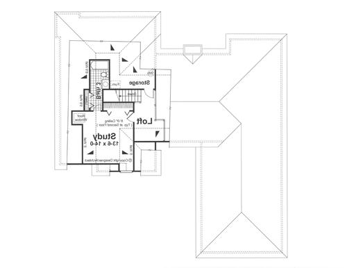 Second Floor image of Featured House Plan: BHG - 1107