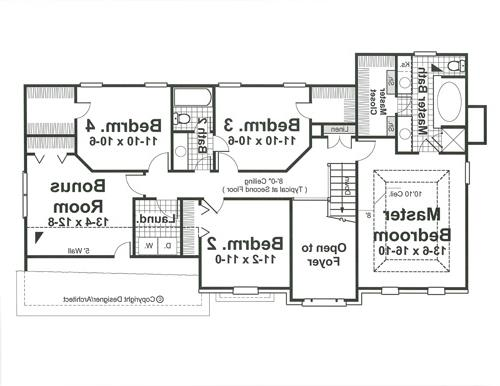 Second Floor image of Featured House Plan: BHG - 1616