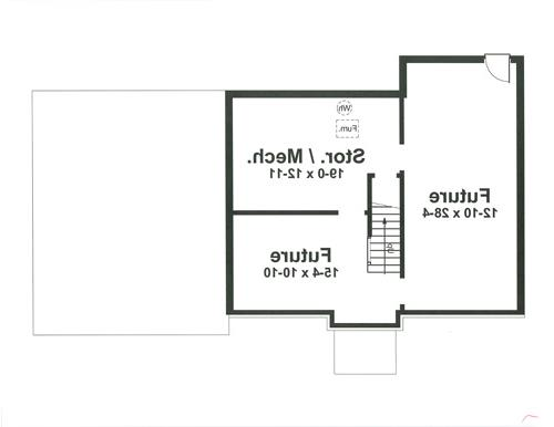 Lower Level image of Featured House Plan: BHG - 8261