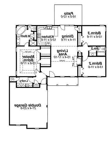 Floor Plan image of Featured House Plan: BHG - 6818