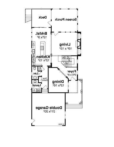 First Floor image of Featured House Plan: BHG - 8044