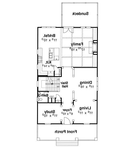First Floor image of Featured House Plan: BHG - 5827