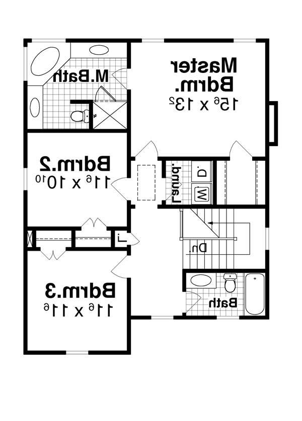 Second Floor image of Featured House Plan: BHG - 7914