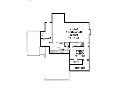 Lower Level image of Featured House Plan: BHG - 8069