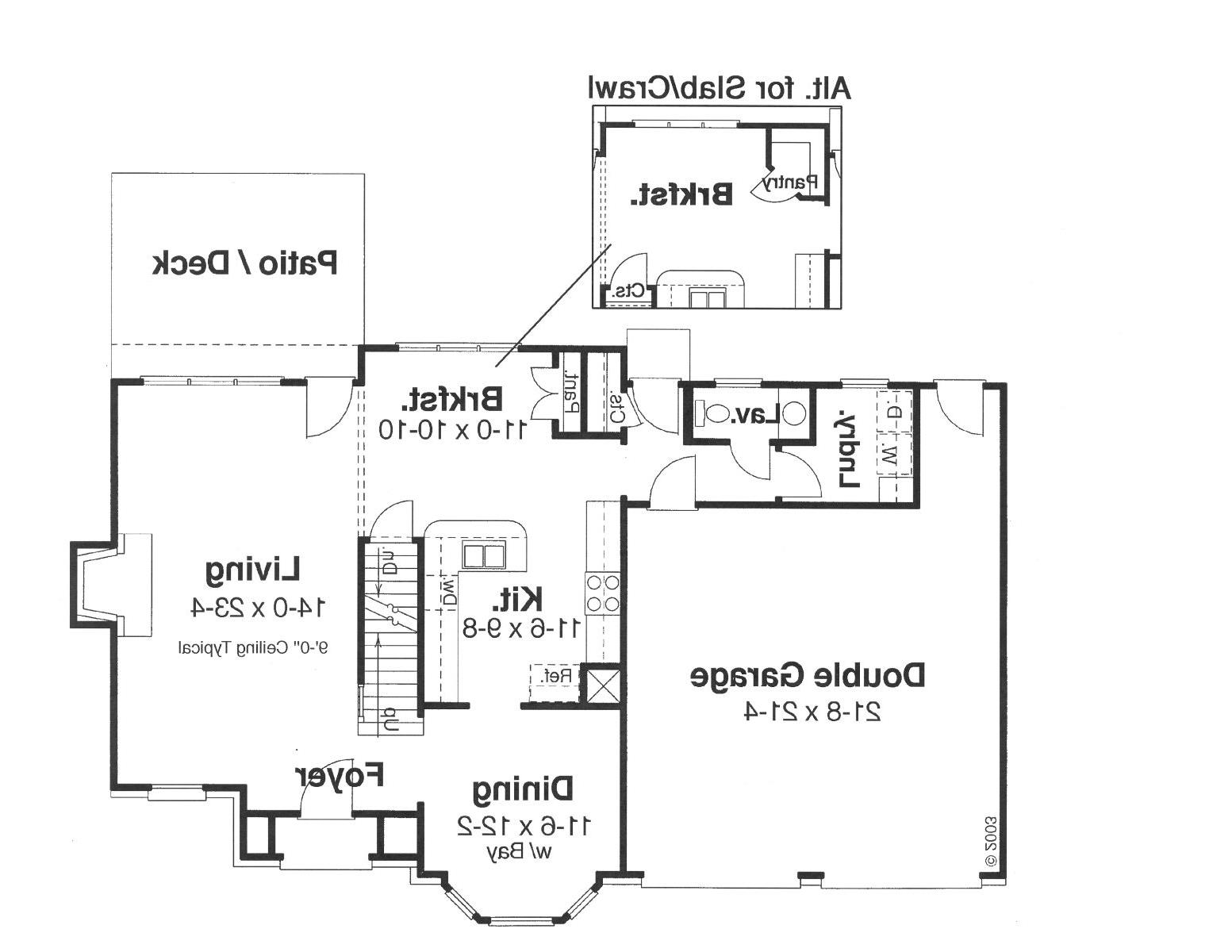 First Floor image of Featured House Plan: BHG - 8693