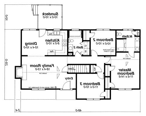 Floor Plan image of Featured House Plan: BHG - 6831