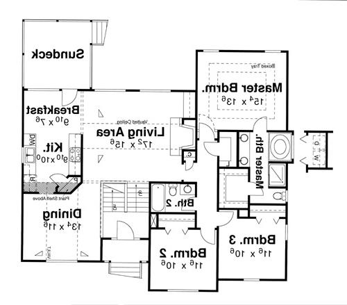 Floor Plan image of Featured House Plan: BHG - 5844