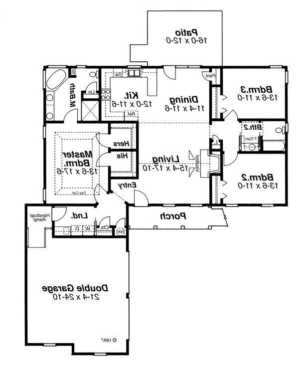 Floor Plan image of Featured House Plan: BHG - 1078