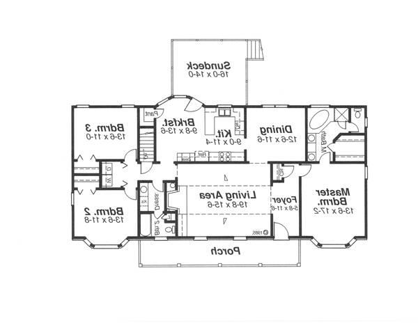 First Floor image of Featured House Plan: BHG - 5737