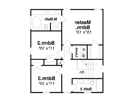 Second Floor image of Featured House Plan: BHG - 7014