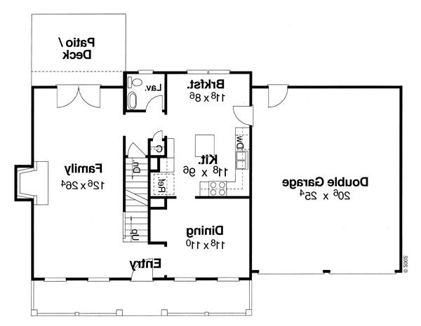 First Floor image of Featured House Plan: BHG - 8081