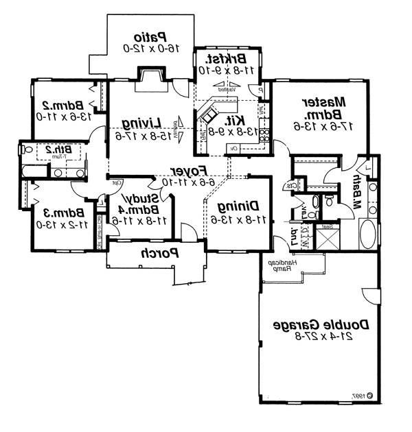 Floor Plan image of Featured House Plan: BHG - 6808