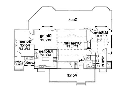 Main Level image of Featured House Plan: BHG - 6352