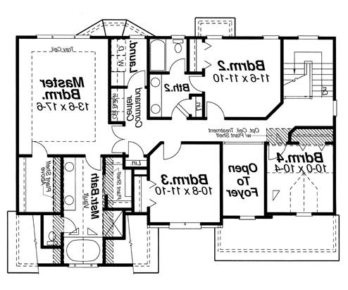 Second Floor image of Featured House Plan: BHG - 5857