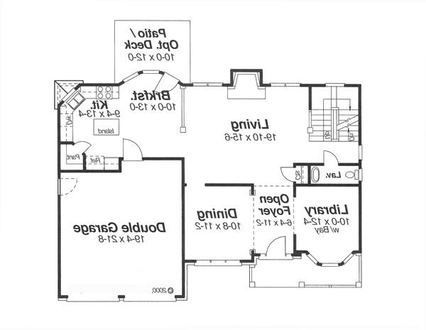 First Floor image of Featured House Plan: BHG - 5857