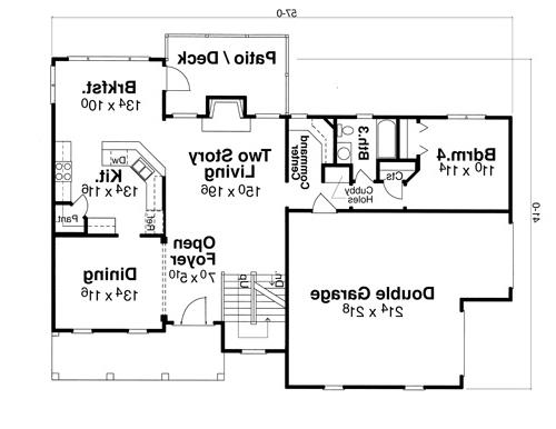 First Floor image of Featured House Plan: BHG - 5729