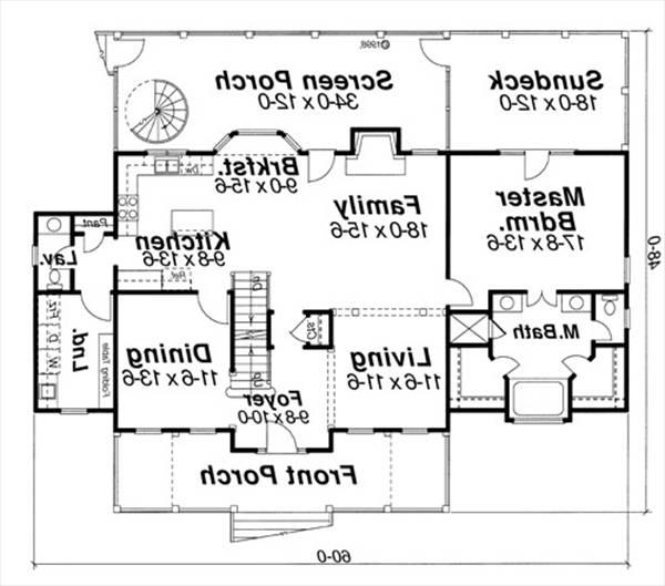 First Floor image of Featured House Plan: BHG - 6797