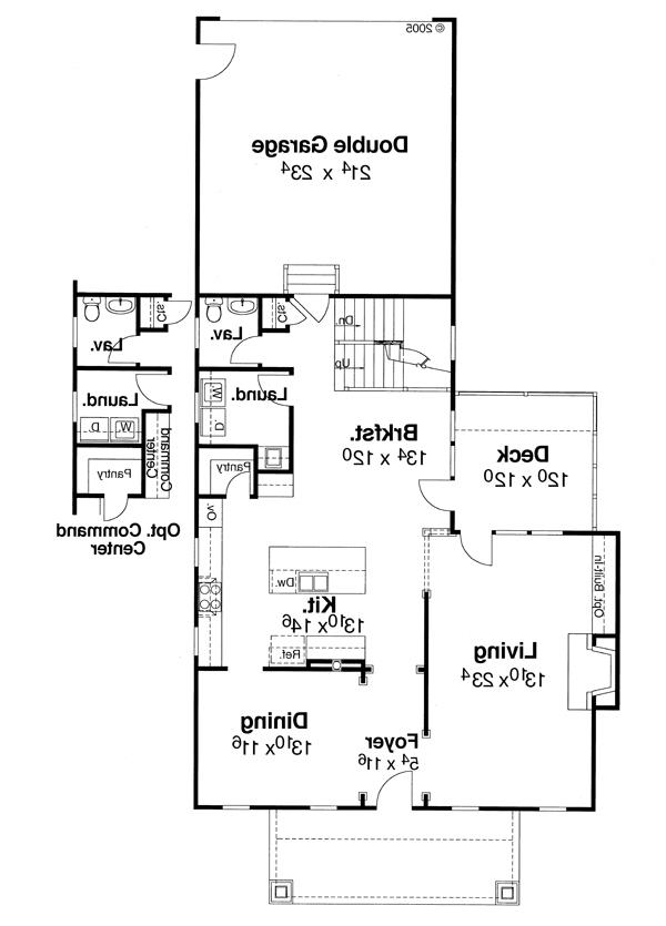 First Floor image of Featured House Plan: BHG - 5830