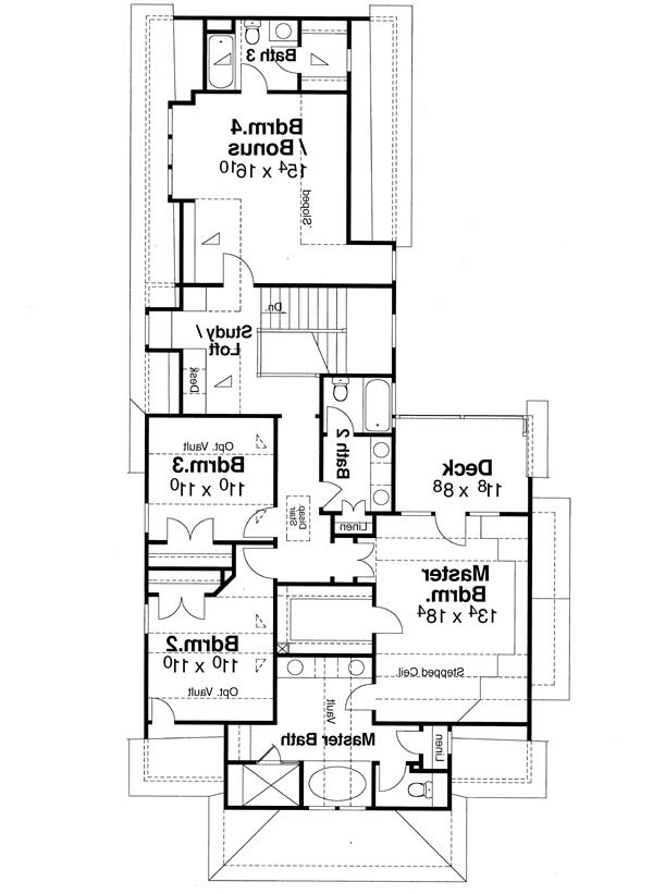 Second Floor image of Featured House Plan: BHG - 5830