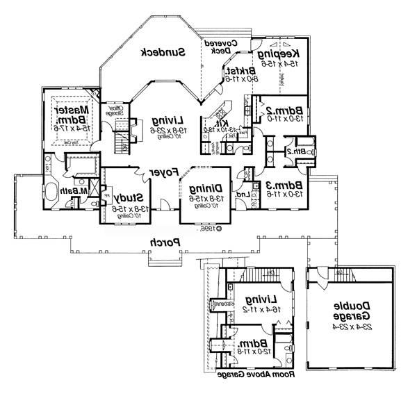 Floor Plan image of Featured House Plan: BHG - 5843
