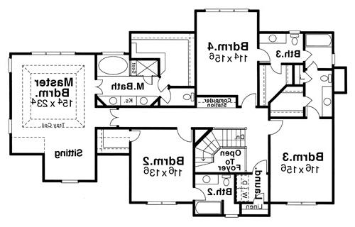 Second Floor image of Featured House Plan: BHG - 6793