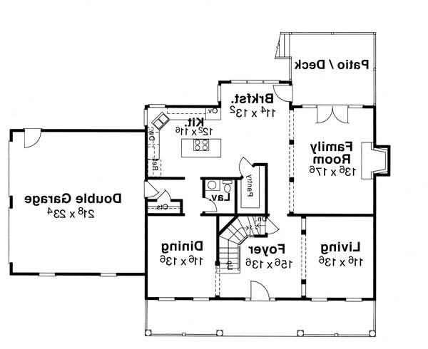 First Floor image of Featured House Plan: BHG - 6793