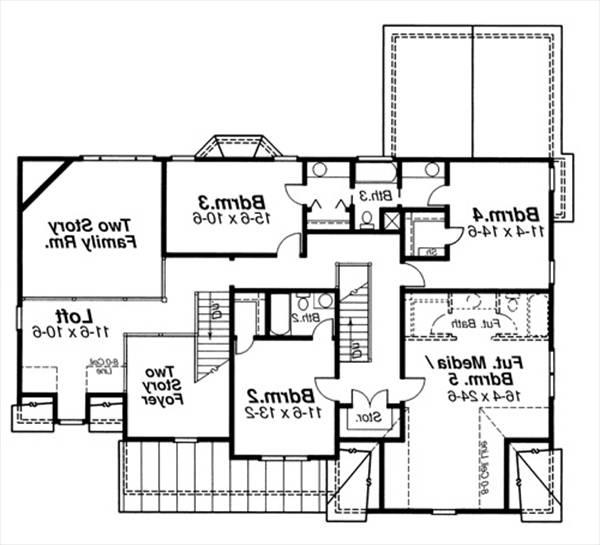 Second Floor image of Featured House Plan: BHG - 6792