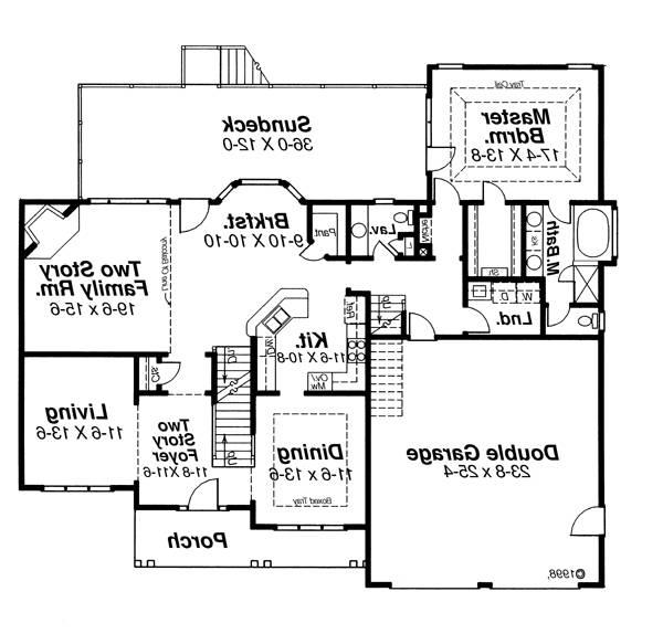 First Floor image of Featured House Plan: BHG - 6792