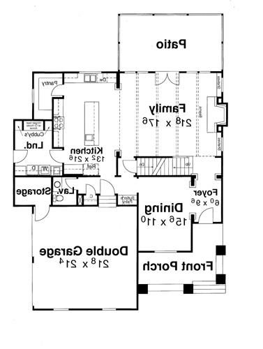 First Floor image of Featured House Plan: BHG - 5829