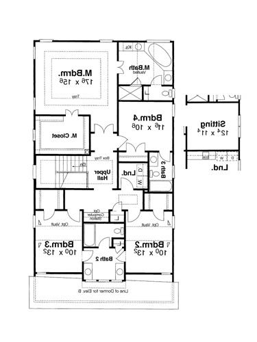Second Floor image of Featured House Plan: BHG - 5826