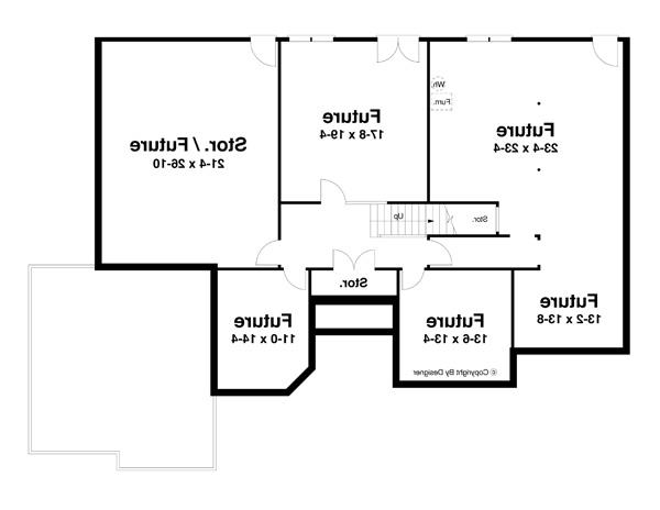 Lower Level image of Featured House Plan: BHG - 8264