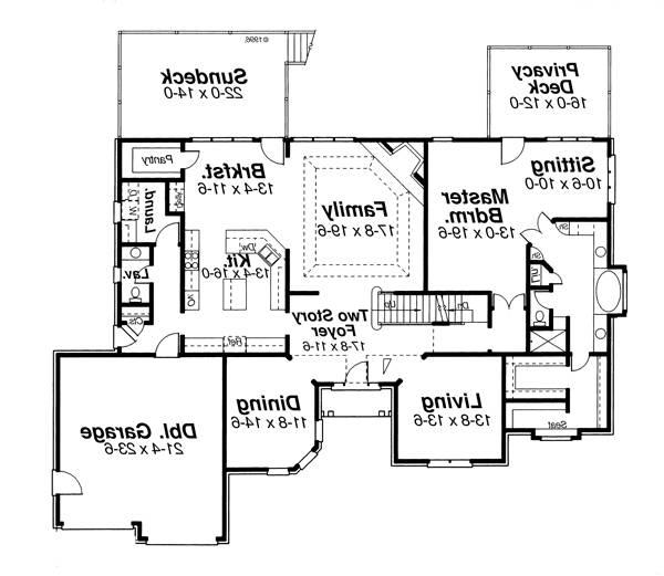 First Floor image of Featured House Plan: BHG - 8264