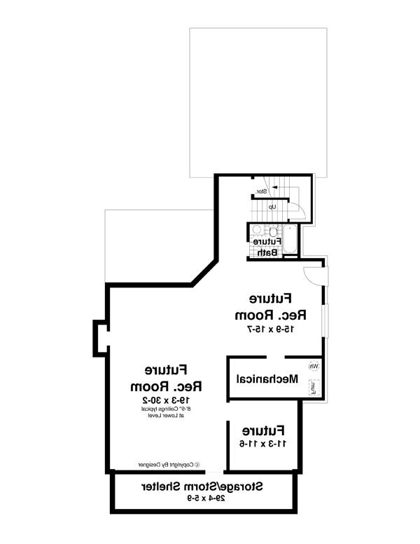 Lower Level image of Featured House Plan: BHG - 7949
