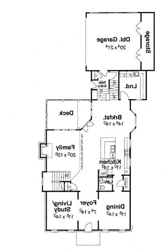 First Floor image of Featured House Plan: BHG - 5823