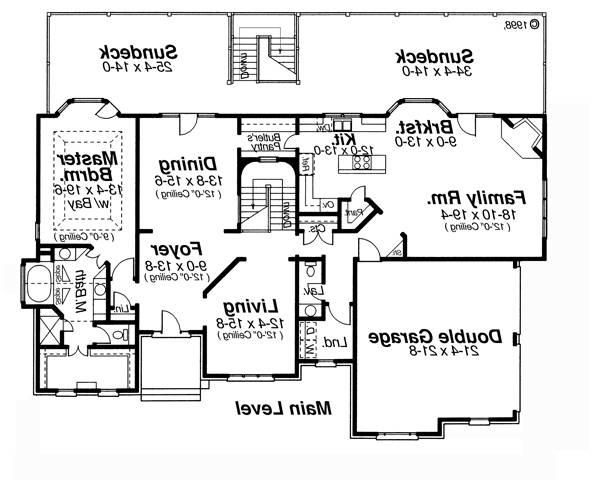 Main Level image of Featured House Plan: BHG - 5850