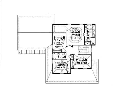 Second Floor image of Featured House Plan: BHG - 8068
