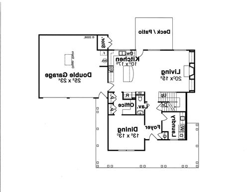 First Floor image of Featured House Plan: BHG - 8068