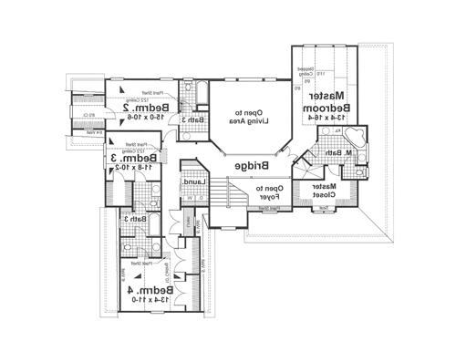 Second Floor image of Featured House Plan: BHG - 1182