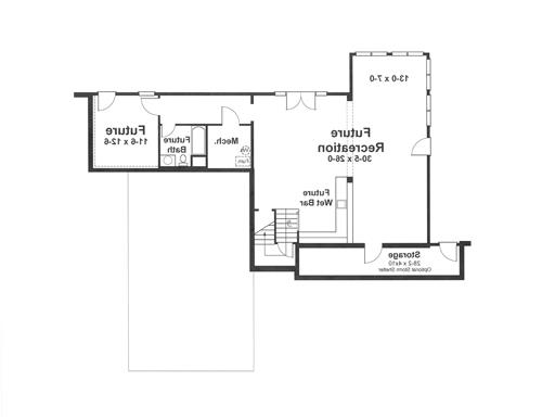 Lower Level image of Featured House Plan: BHG - 1182
