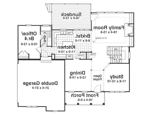 First Floor image of Featured House Plan: BHG - 1181