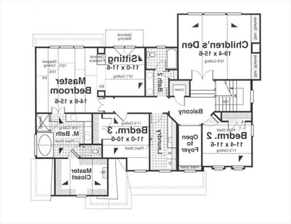 Second Floor image of Featured House Plan: BHG - 1181