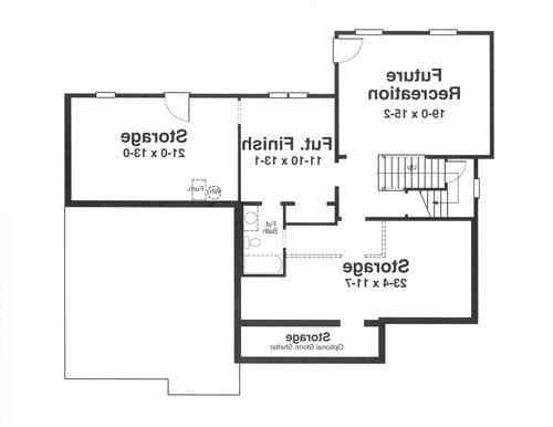 Lower Level image of Featured House Plan: BHG - 1181